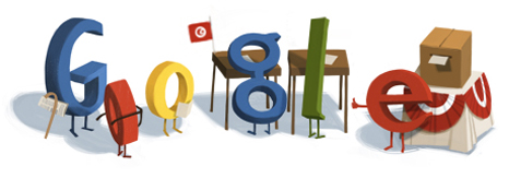 Google Logo: First elections in Tunisia since the revolution
